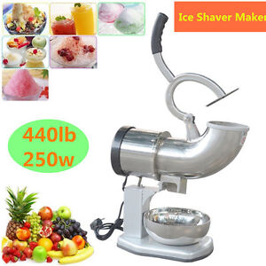 Us 440lbs Ice Shaver Snow Cone Ice Crusher Maker Machine Device Commercial Oy
