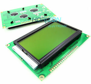 5pcs 5v St7920 12864 128x64 Dots Graphic Lcd Yellow Green Backlight For Easypic5