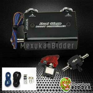 Universal Black Adjustable Turbo Dual Stage Manual Boost Controller Kit Chevy