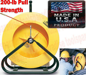300 Ft Industrial Fiberglass Cable Running Rod Fish Tape Electrical Wire Puller