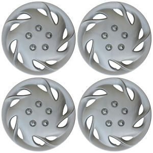 4 Pieces Hub Cap Abs Silver 15 Inch Rim Wheel Skin Cover Hubcap Set Caps Covers