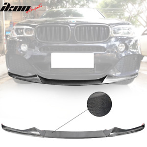 Fits 14 18 Bmw F15 X5 Mt Mp Style Front Bumper Lip Carbon Fiber