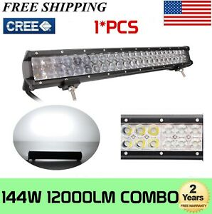 144w 22 Inch Cree Led Light Bar Combo Work Driving Offroad Truck 4wd Car 22 24