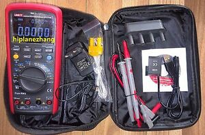 True Rms Multimeter 60kcounts Admittance Ns Temp Test Ebtn Lcd Li battery Usb
