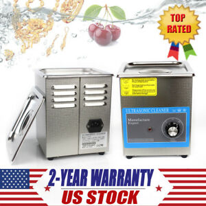 2l Ultrasonic Cleaner Bath For Cleaning Jewelry Glasses Circuit Board Timer New