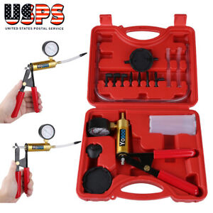 Hand Held Vacuum Pressure Pump Tester Set Brake Fluid Bleeder Bleeding Kit Tool