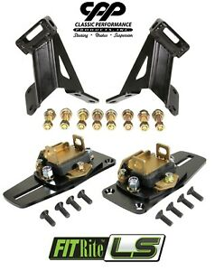 55 57 Chevy Belair 150 210 Ls Conversion Engine Motor Mounts Kit Ls1 Ls2 Ls3 Ls6