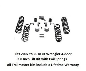 Jeep Jk Wrangler 3 0 Inch Coil Spring Lift Kit W Shock Extension