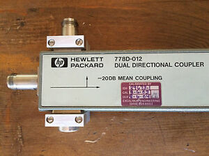 Hp Agilent 778d Dual Directional Coupler 20db 100 To 2000 Mhz Custom Mounting