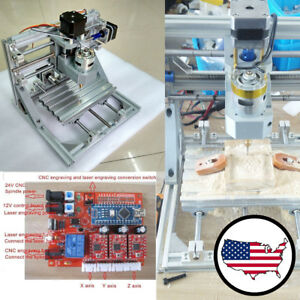 Us 3 Axis Diy Cnc Wood Engraving Carving Pcb Milling Router Engraver Machine