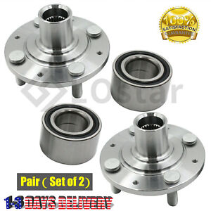 Pair 2 Front Wheel Hub Bearing Fits 88 91 Honda Civic Sedan Hatchback Si Crx