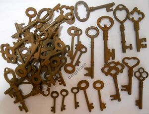 Rusty Ornate Skeleton 1800 S Style Keys 150 Pc Lot Steampunk 2207150