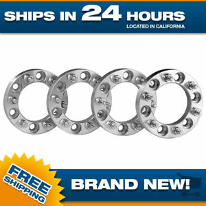4 Wheel Spacers Adapters Fits 6x139 7 For 6 Lug Toyota Chevy 12x1 5 Studs 1 Inch