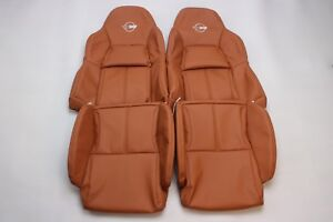 Custom Made 1994 1996 Corvette C4 Real Leather Seat Covers Standard Seats Tan