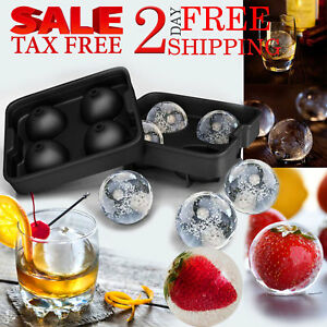 Sphere Ice Ball Maker Molds Home Party Kitchen Trays Bar Food Grade Silicone New