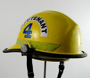 Bullard Firedome Fx New York Firefighter Fire Rescue Lieutenant Helmet 1995