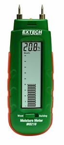 Extech Mo210 Pocket Size Moisture Meter With 2 in 1 Digital Lcd Readout And