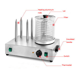 Commerical 110v Hot Dog Warmer Machine hot Dog Roller And Bun Warmer Machine
