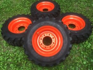 4 New 10 16 5 Galaxy Xd2010 Skid Steer Tires wheels rims For Bobcat 10x16 5