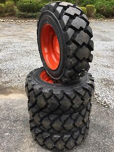 4 Galaxy Hulk L5 10 16 5 Skid Steer Tires wheels rims For Bobcat