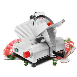 Electric 10 Blade Meat Slicer Commercial Deli Food Cheese Veggies Cutter 110v