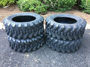 4 New 10 16 5 Skid Steer Tires 10 Ply 10x16 5 For Case New Holland