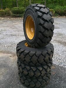 4 Galaxy Hulk L5 12 16 5 Skid Steer Tires wheels rim For Caterpillar 12x16 5 Cat