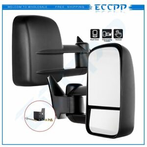 Lh Rh Pair For 1988 98 Chevy Gmc C K 1500 2500 3500 Truck Manual Towing Mirrors