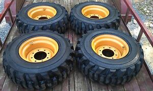 4 New Deestone 12x16 5 Skid Steer Tires Rims For Case Xt 400 Series 12 16 5
