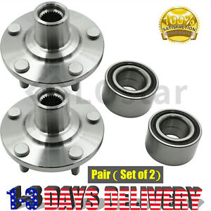 Pair 2 Front Wheel Hub Bearing Fits Toyota 01 07 Highlander Awd 04 09 Camry