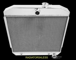 New Champion 4 Row All Aluminum Radiator 1955 1956 1957 Chevy Bel Air Belair