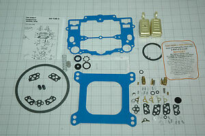 Edelbrock Carb Rebuild Kit W Floats 1403 1405 1406 1407 Blue No Stick Gaskets