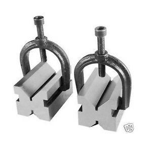 1 5 8 X 1 3 4 X 2 3 4 Inch V block Clamp 2 Pair Set