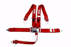 Red Safety Harness Sfi 16 1 Racing Harness 5 Point Roll Bar Mount 3 Latch Link