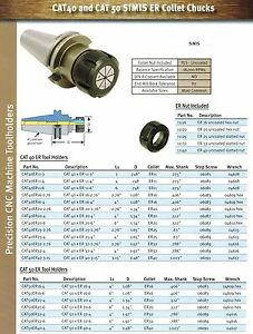 Cat 40 Er25 Collet Chuck Simis By Techniks At3 Taper Ground Pick Your Length