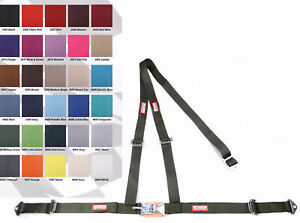 Any Color 2 Latch Link Y Racing Harness 3 Point Seat Belt Military Green