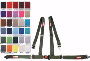 Buggy Seat Belt 4 Point 2 Harness Military Green 30 Colors To Choose From