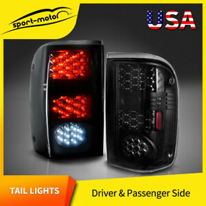 Led Tail Lights Replacement For 1993 1999 Ford Ranger Black Smoke Rear Lamp Pair