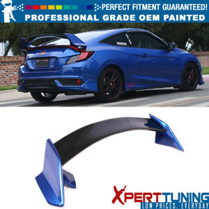Fit 16 18 Honda Civic X 10th Gen Coupe Type R Trunk Spoiler oem Painted Color