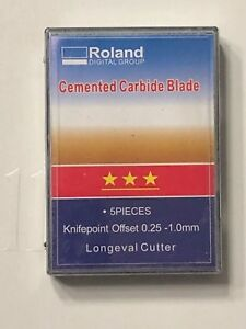 Blade For Roland Cutter Cemented Carbide 5pcs 30 Usa Fast Shipping