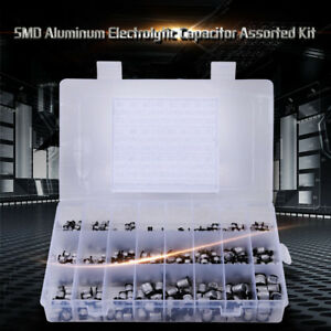 400pcs 24values Smd Electrolytic Capacitors Assortment Kit 1uf 1000uf With Box