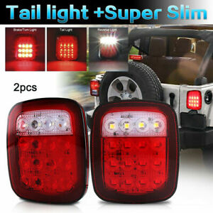 For 76 06 Jeep Wrangler Cj Yj Tj Jk Led Tail Lights Turn Signal Rubicon Offroad