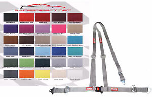 Buggy Off Road 2 Seat Belt 3 Point B t Y Harness Gray 30 Colors To Choose