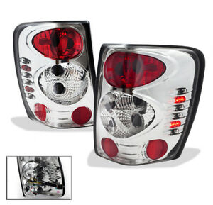 1999 2004 Jeep Grand Cherokee Limited Tsi Orvis Rear Tail Lights Lamp L r Chrome