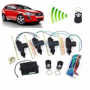 Universal Power Central Lock Kit Car Remote Control Conversion W 2 Keyless Entry