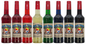 Choose Your Flavors 8 Bottles Of Snow Cone Syrup Maui Tropic Brand