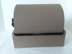 Vintage Rolodex Double Card File Model 2400 Brown Taupe