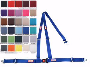 Off Road 2 Seat Belt 3 Point B t Y Harness Blue 30 Colors To Choose From