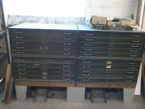 Lyon Steel Equipment Co 5 Drawer Metal Cabinet Unit