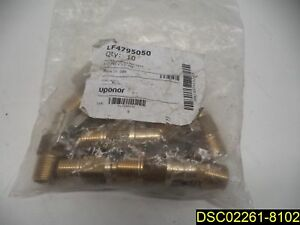 10 Pack Uponor Wirsbo Lf4795050 Propex Lf Brass Ball Valves 1 2 Pex X 1 2 Mip